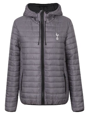 Spurs Womens Padded Jacket With Hood