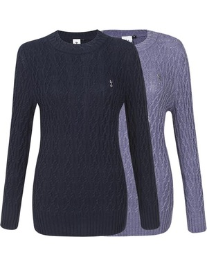 Spurs Womens Cable Detail Jumper