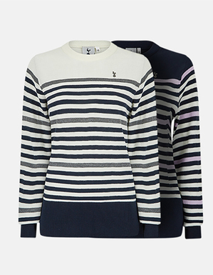 Spurs Womens Stripe Knit Jumper