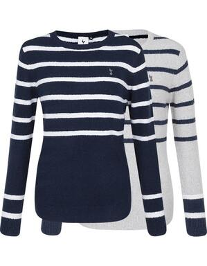 Spurs Womens Colour Block Stripe Jumper