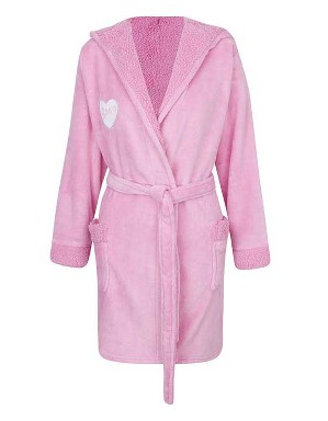 Spurs Womens Fleece Hooded Robe