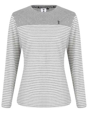 Spurs Womens L/S Stripe T-Shirt