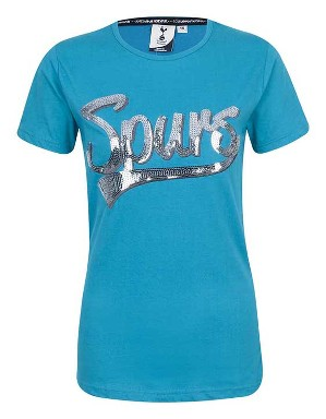 Spurs Womens Sequin T-Shirt