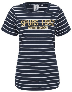 Spurs Womens Stripe And Foil Mix T-Shirt