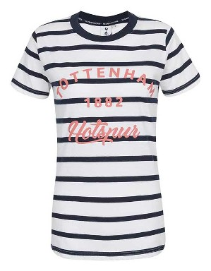 Spurs Womens Stripe Tottenham T-Shirt