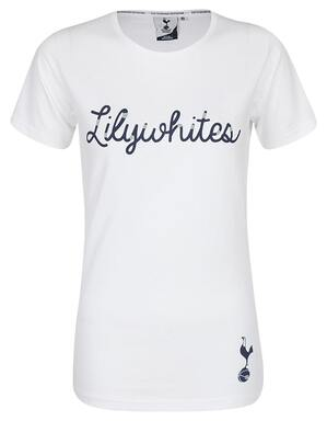 Spurs Ladies Lilywhite Rubber Print Tee
