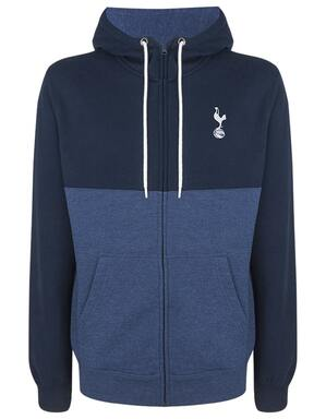 Spurs Mens Printed Zip Through Hoodie