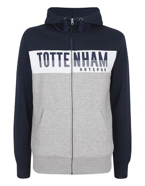 Spurs Mens Tottenham Colour Block Hoodie