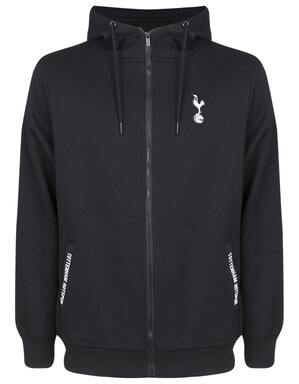 Tottenham Hotspur Mens Pocket Zip Through Hoodie