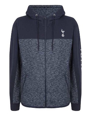 Spurs Mens Fabric Block Sleeve Detail Hoodie