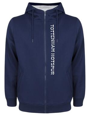 Tottenham Hotspur Mens Zip Through Hoodie