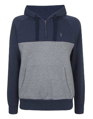 Spurs Mens Mixed Marl And Solid Hoodie