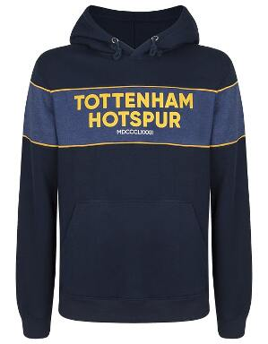 Spurs Mens Piping Detail Hoodie