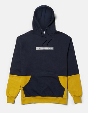 Spurs Mens Half and Half Overhead Hoodie