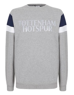 Spurs Mens Sleeve Panel Sweat Top