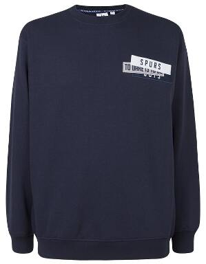 Spurs Mens Felt Patch Sweat Top