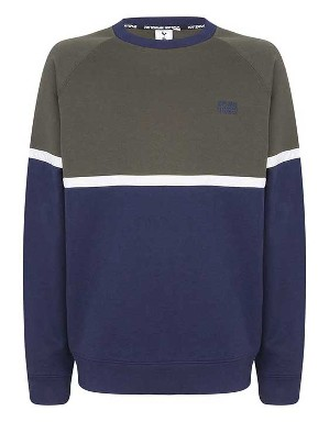 Spurs Mens Colour Block Sweat Top