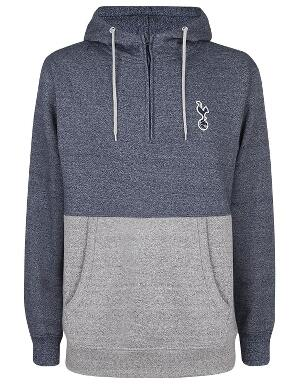 Spurs Mens Colour Block 1/4 Zip Hoodie