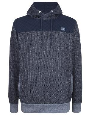 Spurs Mens Quilted Overhead Hoodie