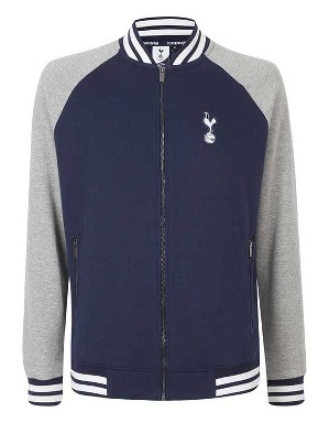 Spurs Mens Zip Thru Baseball Jacket