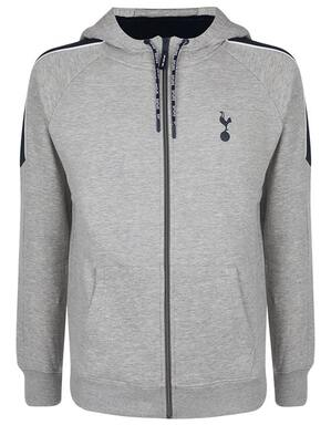 Spurs Mens Colour Block Sleeve Zip Through Hoodie