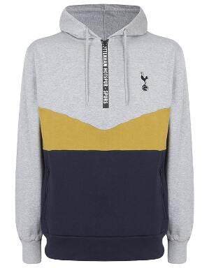 Spurs Mens Colour Pop 1/4 Zip Hoodie