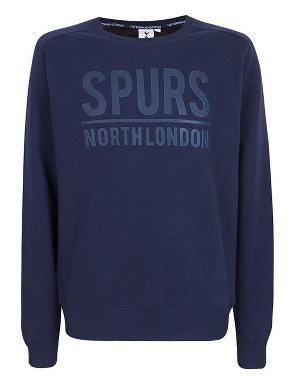 Spurs Mens 2 Tone Print Sweat Top