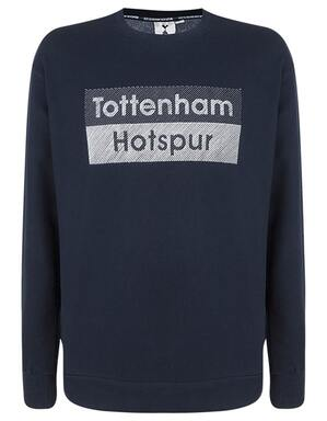 Spurs Mens Tottenham Hotspur Embroidered Sweat Top