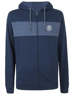 Spurs Mens Colour Block Zip Through Hoodie