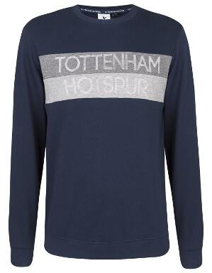 Spurs Mens Panel Print Sweat Top