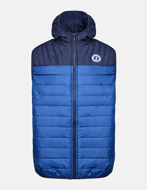 Spurs Mens Colour Block Hooded Gilet