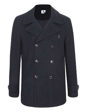 Spurs Mens Wool Pea Coat