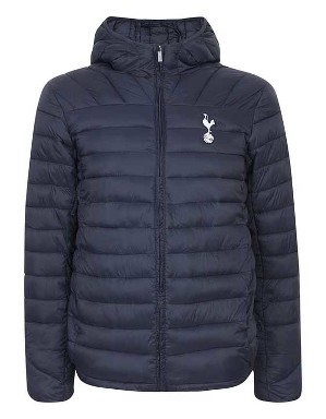 Spurs Mens Padded Hooded Jacket