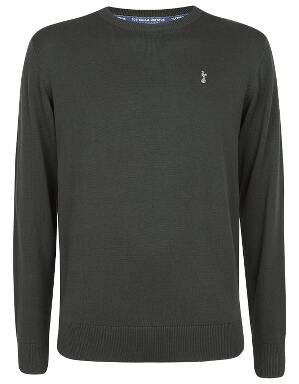 Spurs Mens Forest Green Essential Crew Neck Jumper