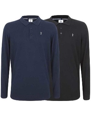 Spurs Mens L/S Knit Polo