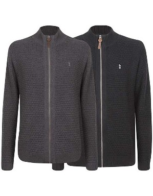 Spurs Mens Textured Zip Cardigan