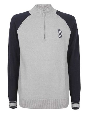 Spurs Mens Colour Block Funnel Neck Jumper
