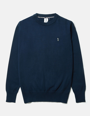 Spurs Mens Essential Navy Crew Neck Jumper