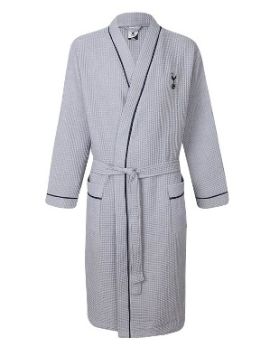 Spurs Mens Jersey Waffle Robe