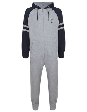 Spurs Adult Grey Colour Block Onesie