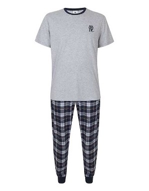 Spurs Mens Check Woven Bottom THFC PJs