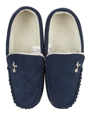 Spurs Mens Moccasin Slippers
