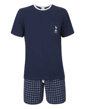 Spurs Mens Check Short PJs