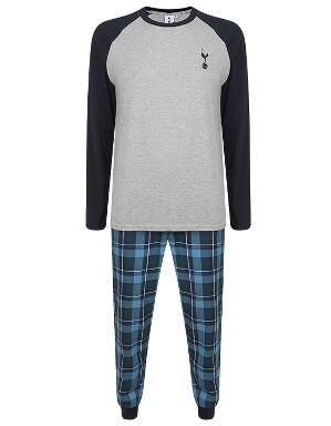 Spurs Mens Colour Block Tee PJ Set