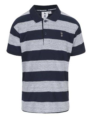 Spurs Mens Herringbone Block Stripe Polo