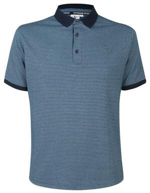 Spurs Mens Three Colour Jacquard Polo