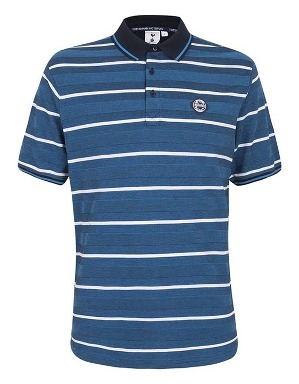 Spurs Mens Stripe Pique Polo