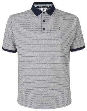 Mens Texture and Stripe Detail Polo