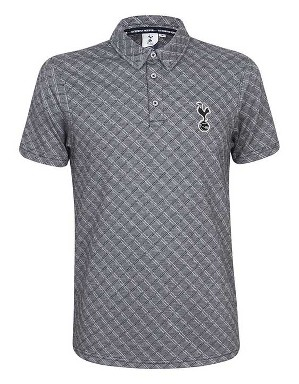 Spurs Mens Diamond Pattern Polo