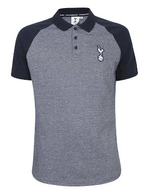 Spurs Mens Raglan Colour Block Polo